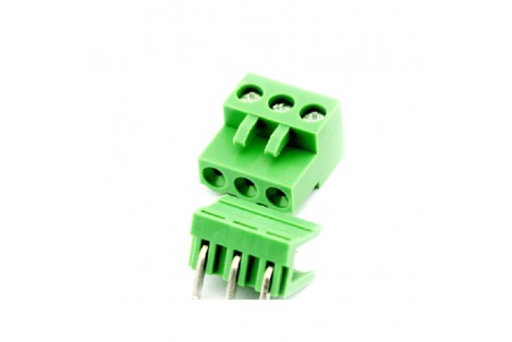5.08mm 300V 10A 3-Pin Curve Plug In PCB Terminal Blocks
