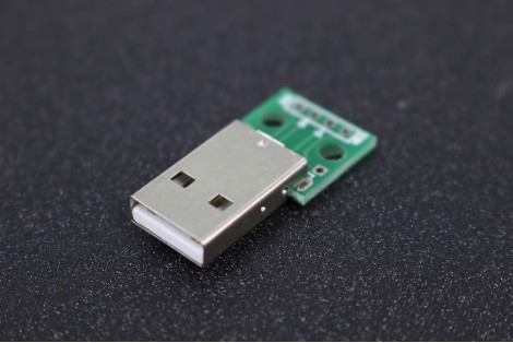 USB 2.0 Male Humpback turn 4-Pin DIP Adapter Plate