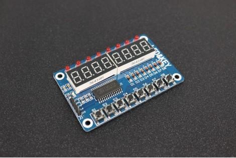 TM1638 8-Bit Digital LED Tube Key Display Module