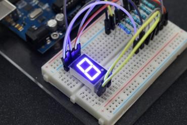 1-Digit 0.56Inch 7 segment LED Common Cathode ( Blue Color )