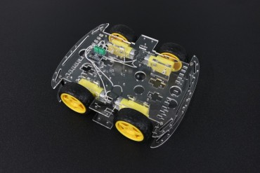 Four Wheel Car Frame with DC Motor