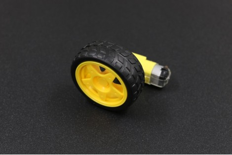 Smart robot car wheel with gear motor green electronics for Robot motors and wheels