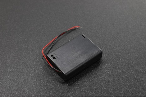 3 x AA 1.5V Battery Box by Cover and Switch with 15cm Wire