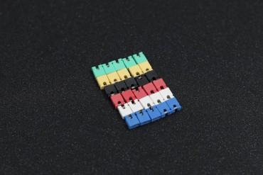 6 Color 2.54mm Standard Circuit Board Jumper Cap