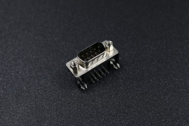 2 Line DB 9 Male PCB Connector
