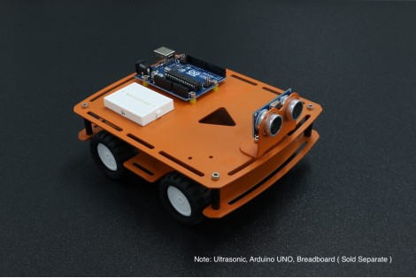 4 WD Aluminium Chassis with N20 Gear Motors Kit