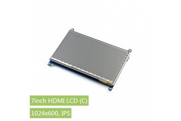 7inch HDMI LCD (C), 1024×600, IPS, supports various systems