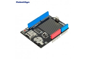 Data Logger Shield for Arduino, MicroSD-card + RTC