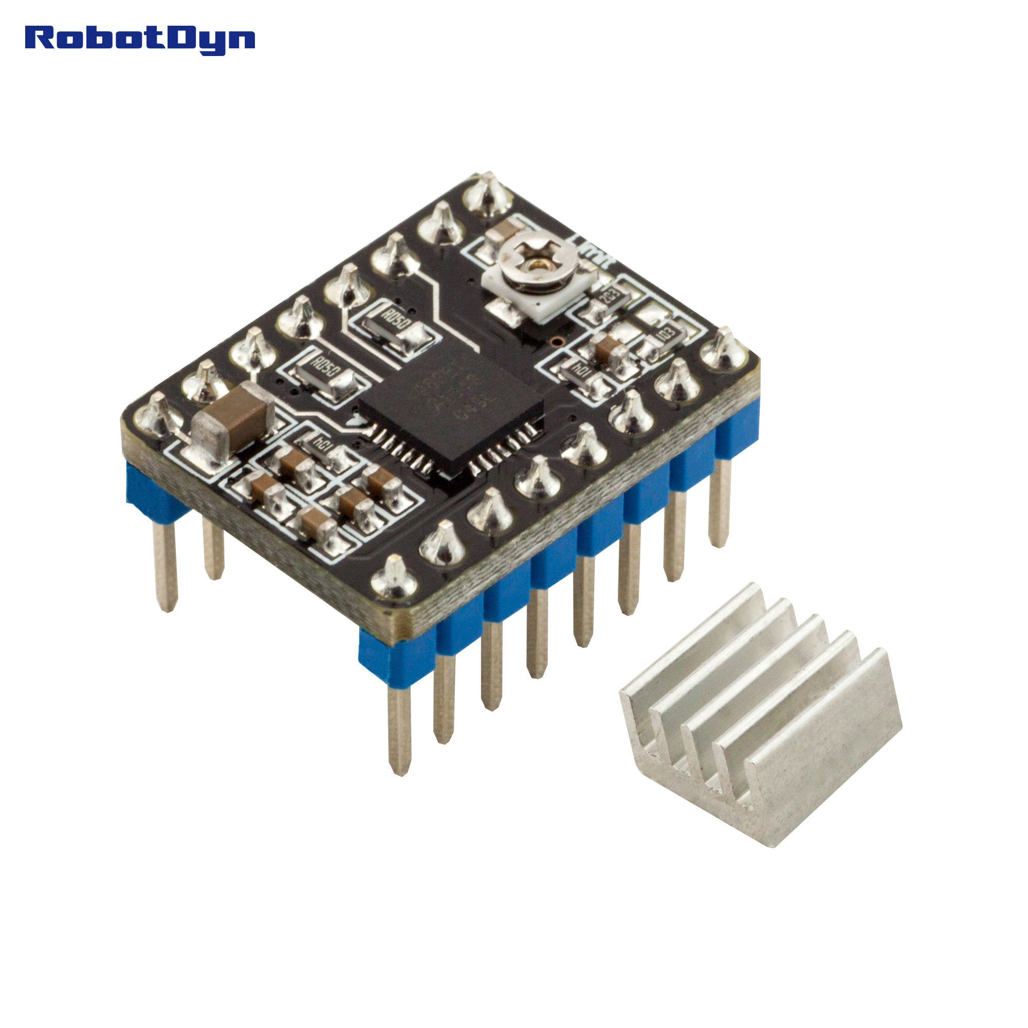 Stepper Motor Driver Circuit Using Transistor A4988 For 3d Printers With Heat Sink Green Electronics Store