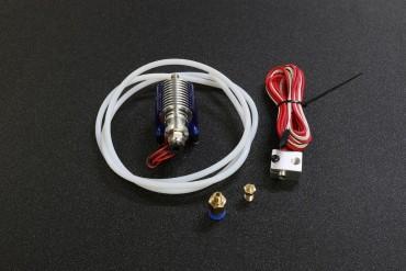0.2mm V6 Remote Bowden J-head HotEnd Extruder ( 12V,1M Teflon Tube, Cooling Fan, Bracket, 1.75mm Filament )
