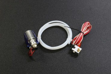 0.4mm V6 Remote Bowden J-head HotEnd Extruder ( 12V,1M Teflon Tube, Cooling Fan, Bracket, 1.75mm Filament )