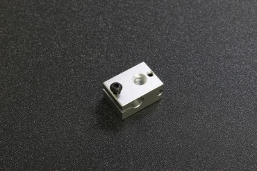 E3D V6 Upgraded Version Heating Block ( 23x16x12mm, 6mm Bore for Heat Tube, 3mm for Thermocouple, M6 Nozzle )