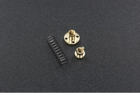 Anti Backlash Nuts For T8 Threaded Rod ( Lead 8mm, Brass, ID 8mm, T8P2L8 )