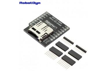 WIFI D1 Mini - Shield MicroSD-card