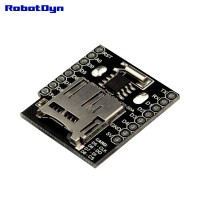 WIFI D1 Mini - Data Logger Shield: RTC DS1307 with Battery + MicroSD