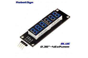 6-Digit LED Display Tube, 7-segments,74HC595 (Blue)