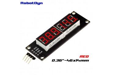 6-Digit LED Display Tube, 7-segments,74HC595 (Red)