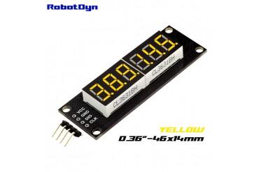 6-Digit LED Display Tube, 7-segments,74HC595 (Yellow)