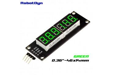 6-Digit LED Display Tube, 7-segments,74HC595 (Green)