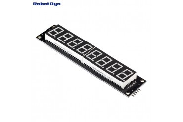 8-Digit LED Display Tube, 7-segments, decimal points, 101x19mm,74HC595 (Green)