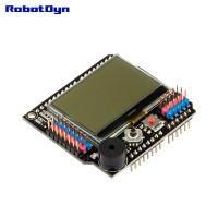 Graphic LCD 128x64 + Buzzer, Shield for Arduino (Semi-assembled)