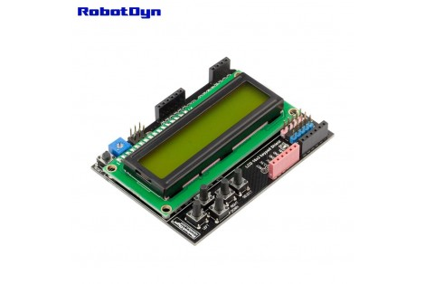 LCD 16x2 + keypad Shield for Arduino ( Green )