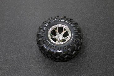 130mm Traxxas HSP Tamiya Robot Tire ( Silver )