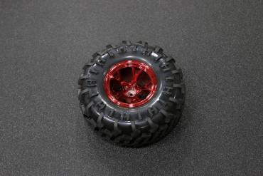 130mm Traxxas HSP Tamiya Robot Tire ( Red )