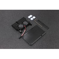 Aluminum Case Alloy Armor with Cooling Heatsink Dual Fan for Raspberry Pi 4