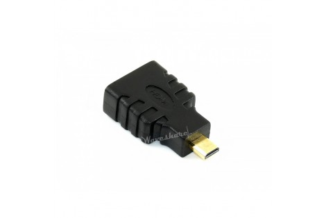 HDMI Female to Micro HDMI Male Adapter, Suit for Raspberry Pi 4B
