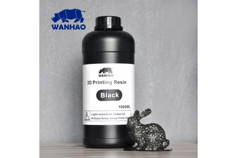 Wanhao 3D Printing Resin ( Black 1000ML )